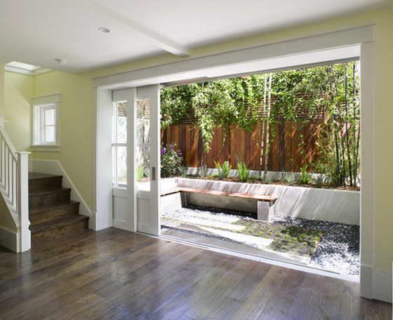 Раздвижные двери выход на террасу