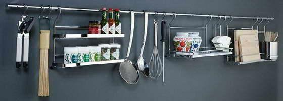 Рейлинги для кухни фото в интерьере