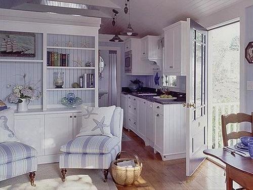 дом в морском стиле интерьер