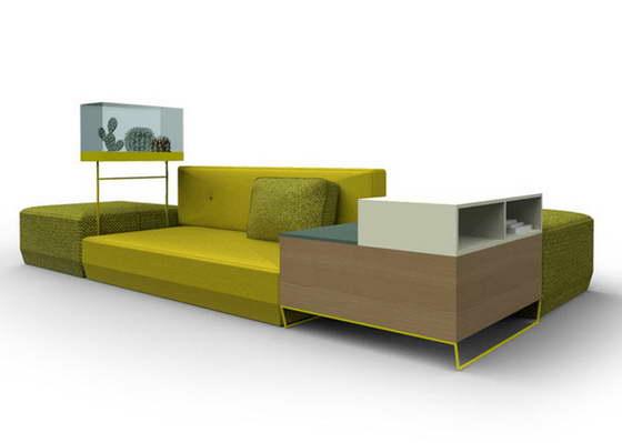 Новая коллекция модульной мебели для гостиной от Moroso