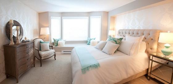 интерьер спальни в белом стиле фото