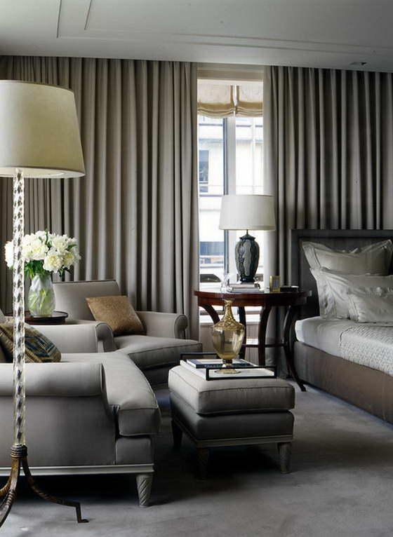 интерьер гостиной в серых цветах