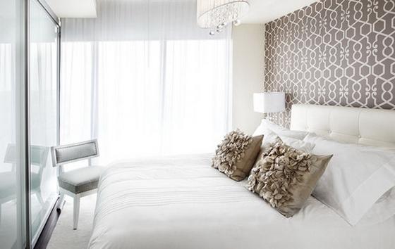 интерьер спальни белого цвета фото