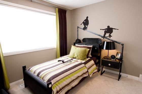 дизайн комнаты подростка мальчика 17
