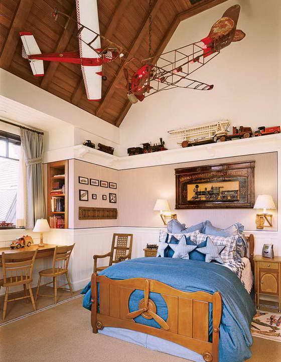 Интерьер детской комнаты в коричневом цвете