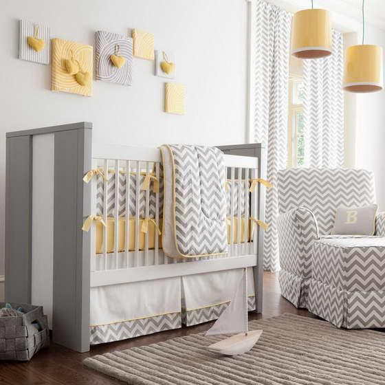 Интерьер детской комнаты в сером цвете
