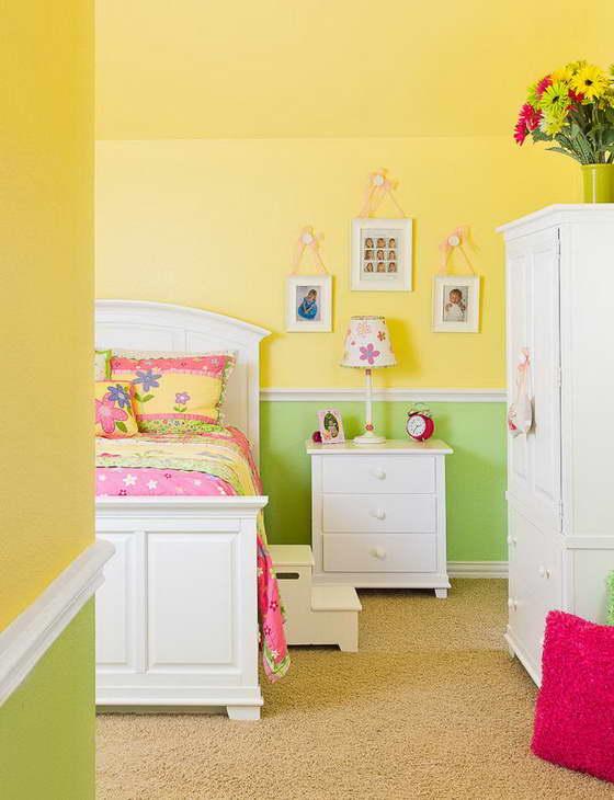 Интерьер детской комнаты в желтом цвете