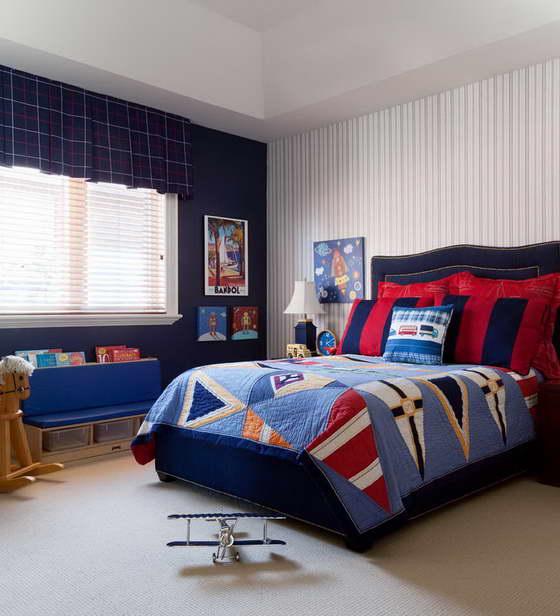 Синий цвет в интерьере детской комнаты