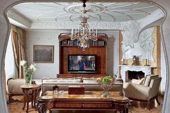 интерьер квартиры в стиле модерн современный стиль