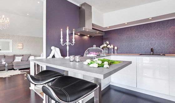 интерьеры в фиолетовых цветах