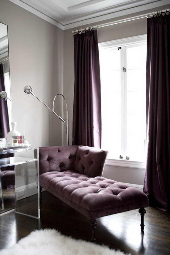 интерьер в фиолетовом цвете фото