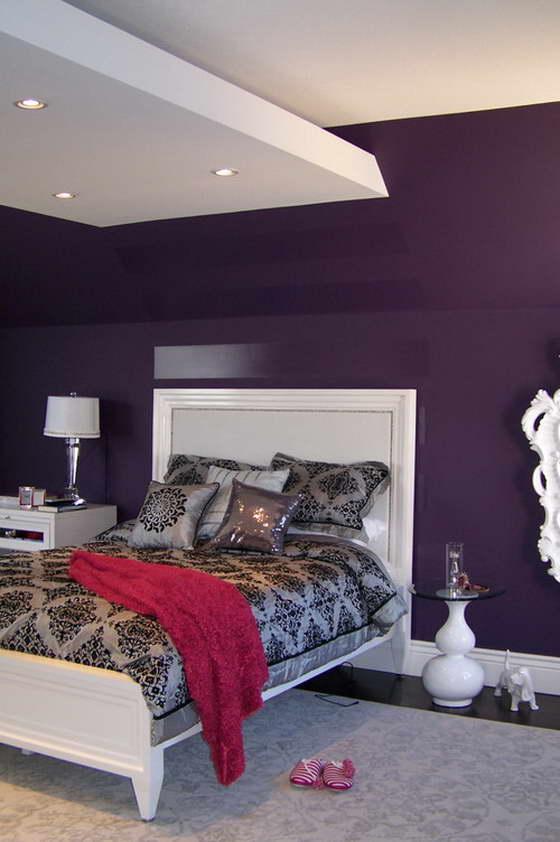 с какими цветами сочетается фиолетовый в интерьере