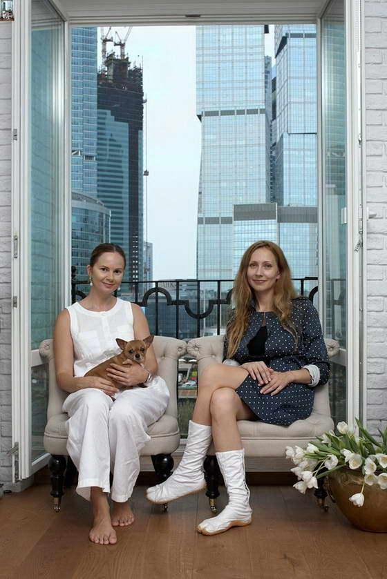 Хозяйка квартиры Александра и дизайнер интерьера Анна Эрман