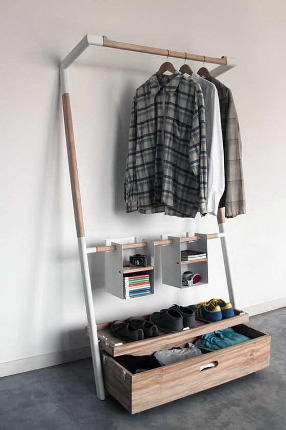 Складная гардеробная комната
