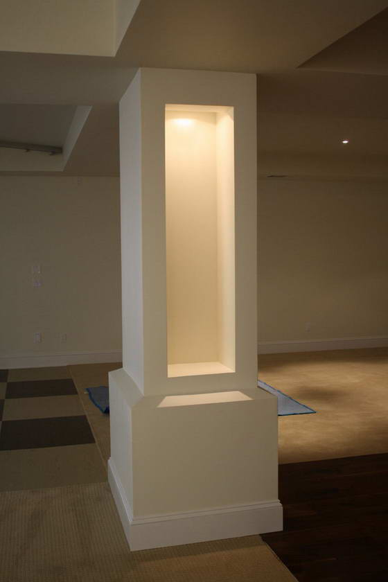 колонны в интерьере