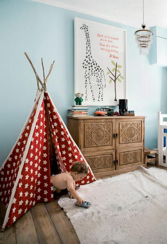оформление детской комнаты обои