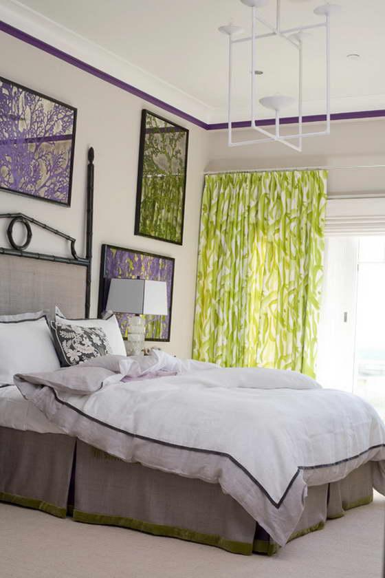 фиолетовый сочетание с другими цветами в интерьере
