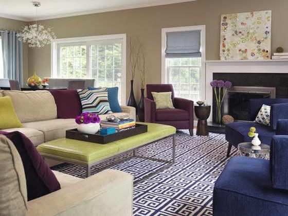 интерьер комнаты фиолетового цвета