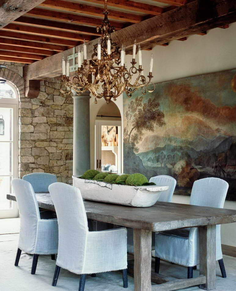 интерьер частного дома в стиле прованс