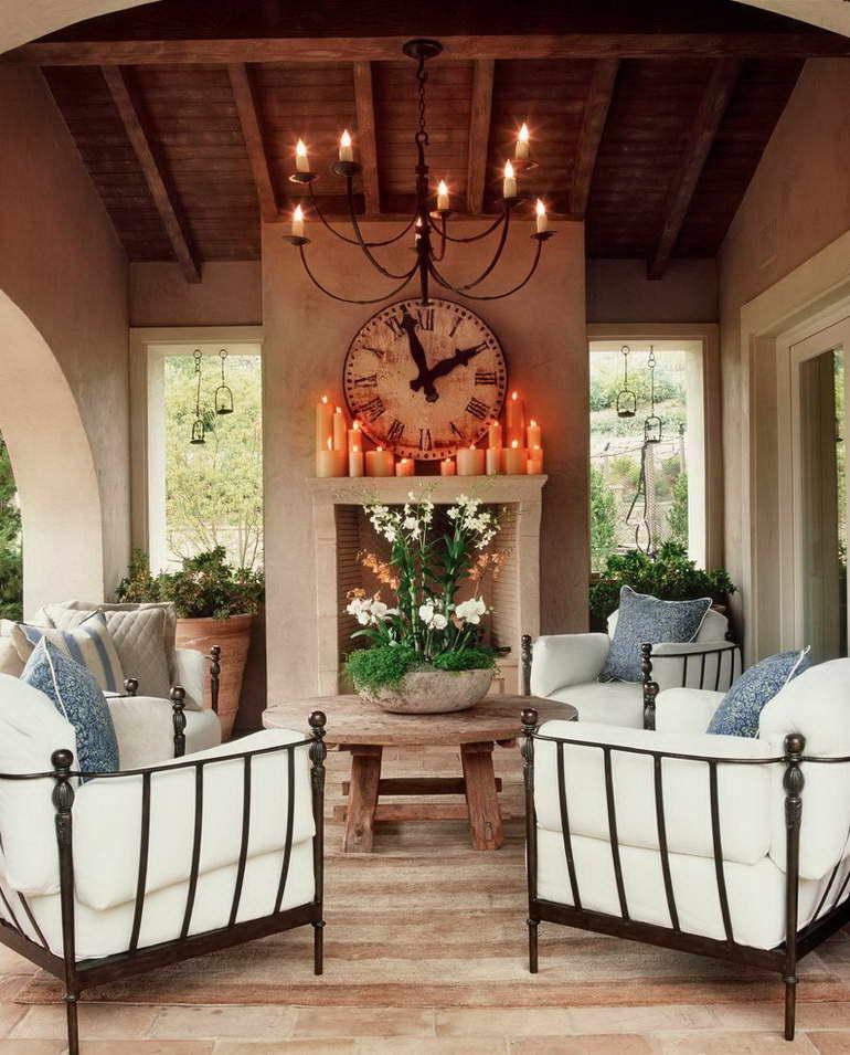 стиль прованс в деревянном интерьере