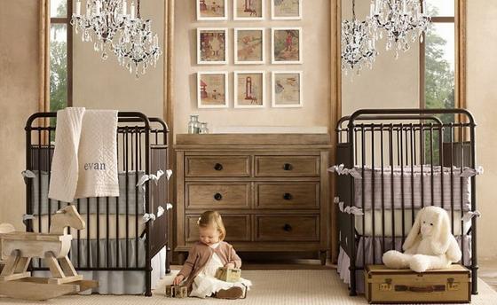 оформление детской комнаты для новорожденного