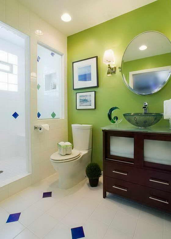 фото интерьера в зеленом цвете