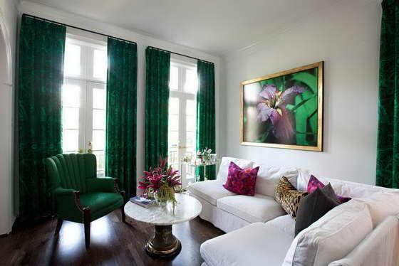 с какими цветами сочетается зеленый в интерьере
